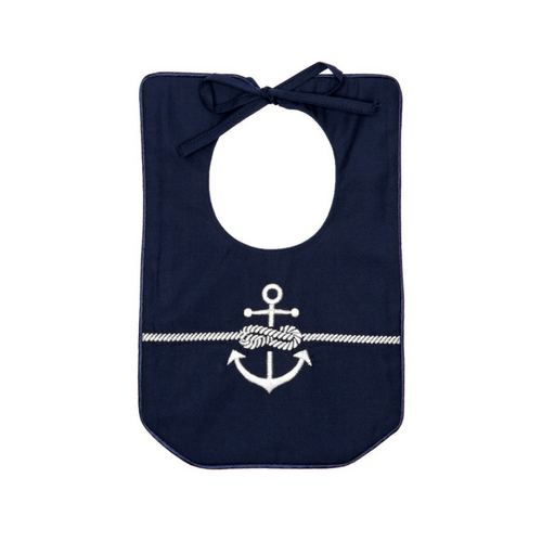 Navy Rope & Anchor Bib Poppie and George