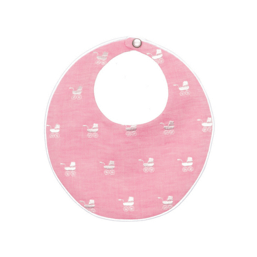 Pink Repeat Pram Bib Poppie and George