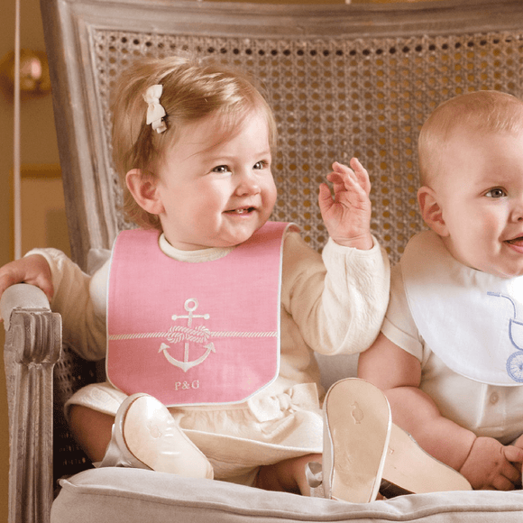 Pink Rope & Anchor Bib Poppie & George