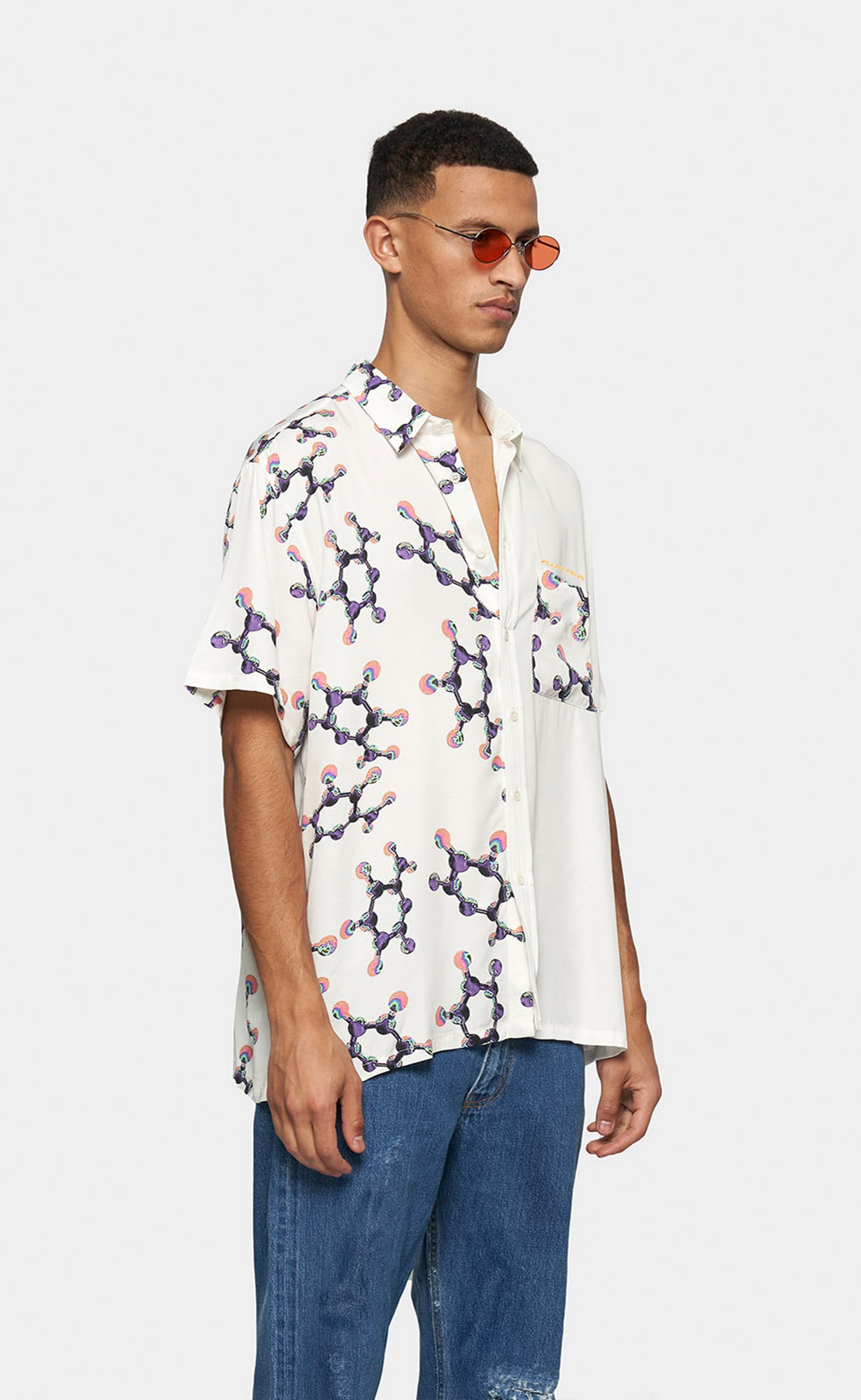 Resort Shirt with Print Helix - men