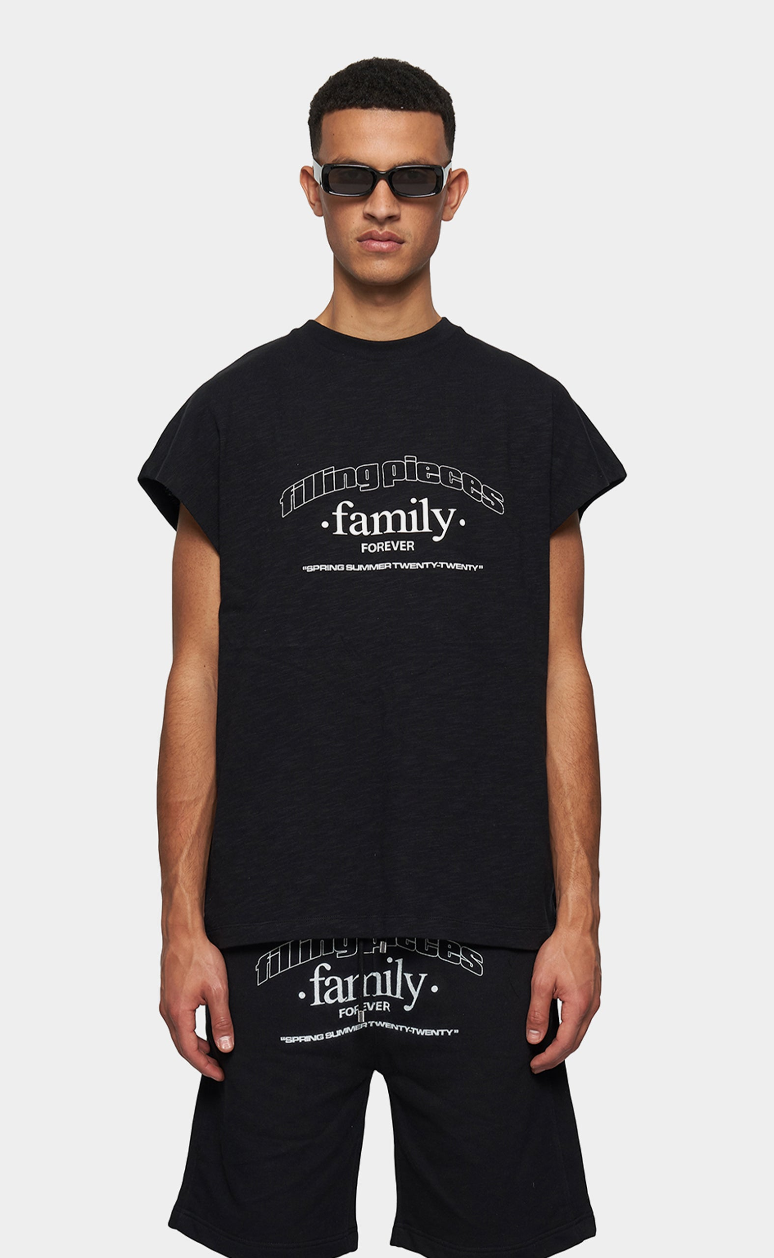 Graphic Sleeveless Tee FP Family Black - men