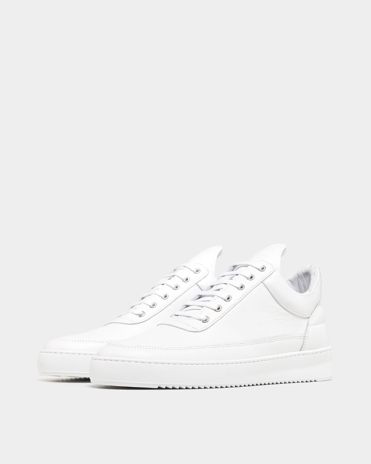 Low Top Ripple Nappa All White Filling Pieces