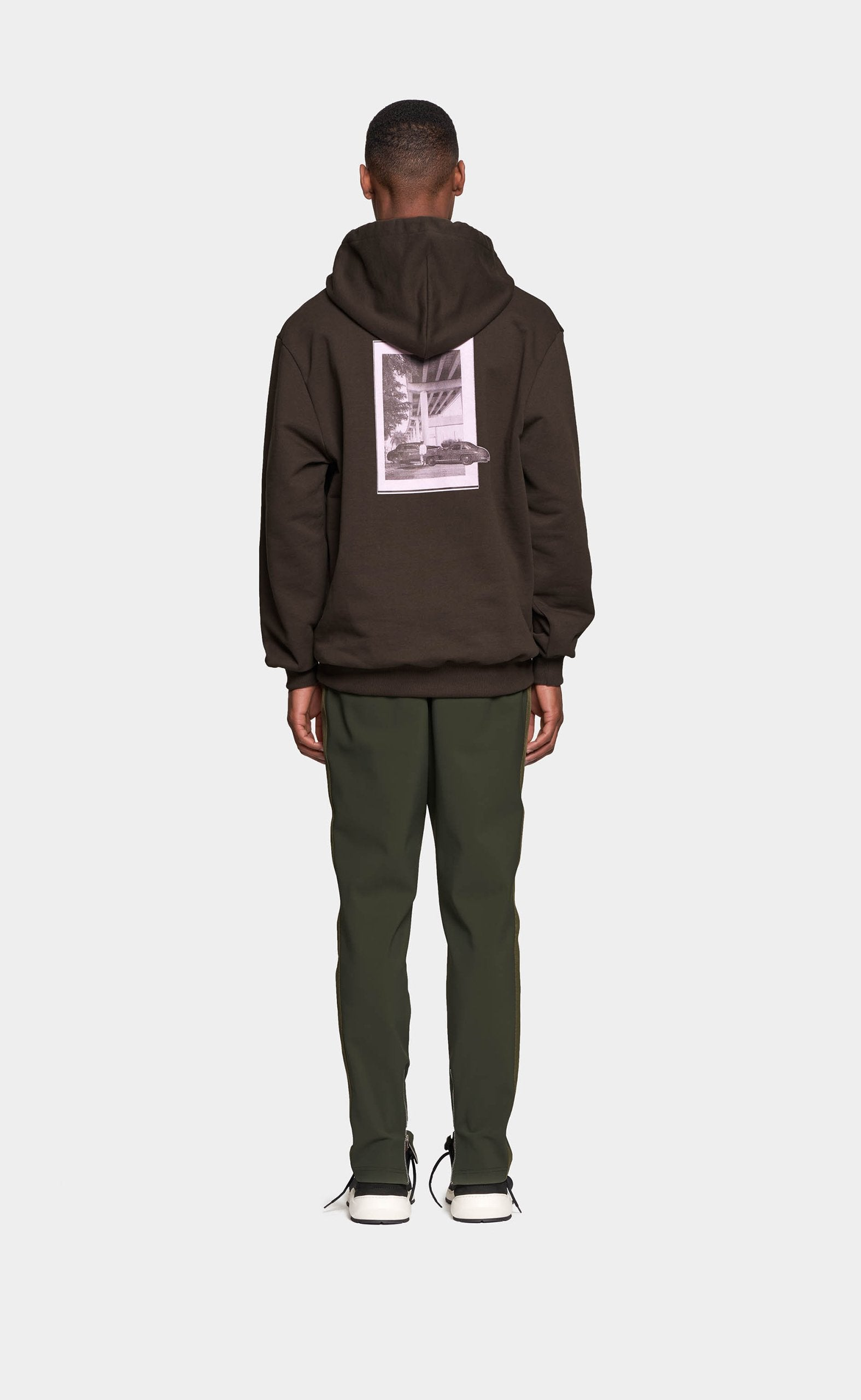 Graphic Hoodie Military Green