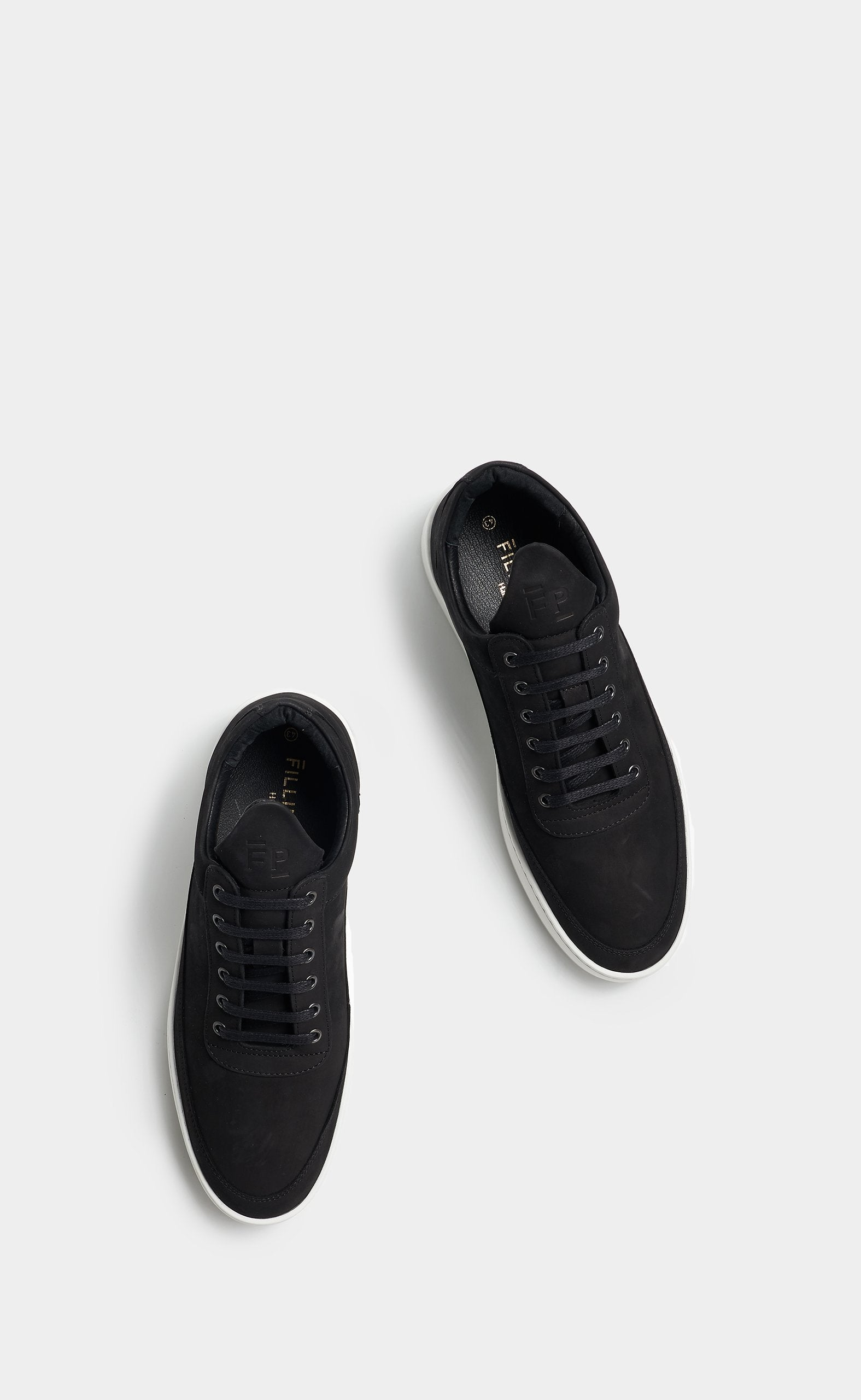 Low Top Plain Lane Nubuck Black - men