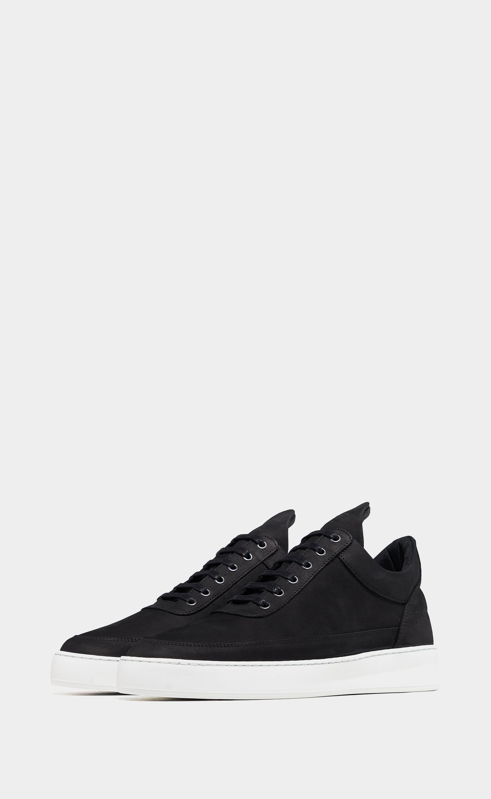 Low Top Plain Lane Nubuck Black - women