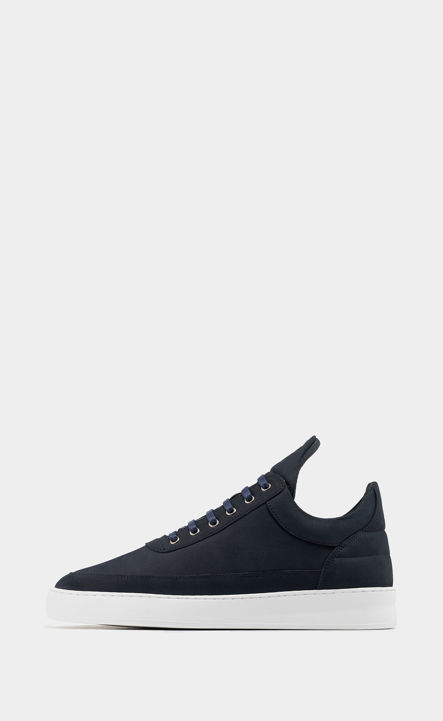 Low Top Plain Lane Nubuck Navy Blue