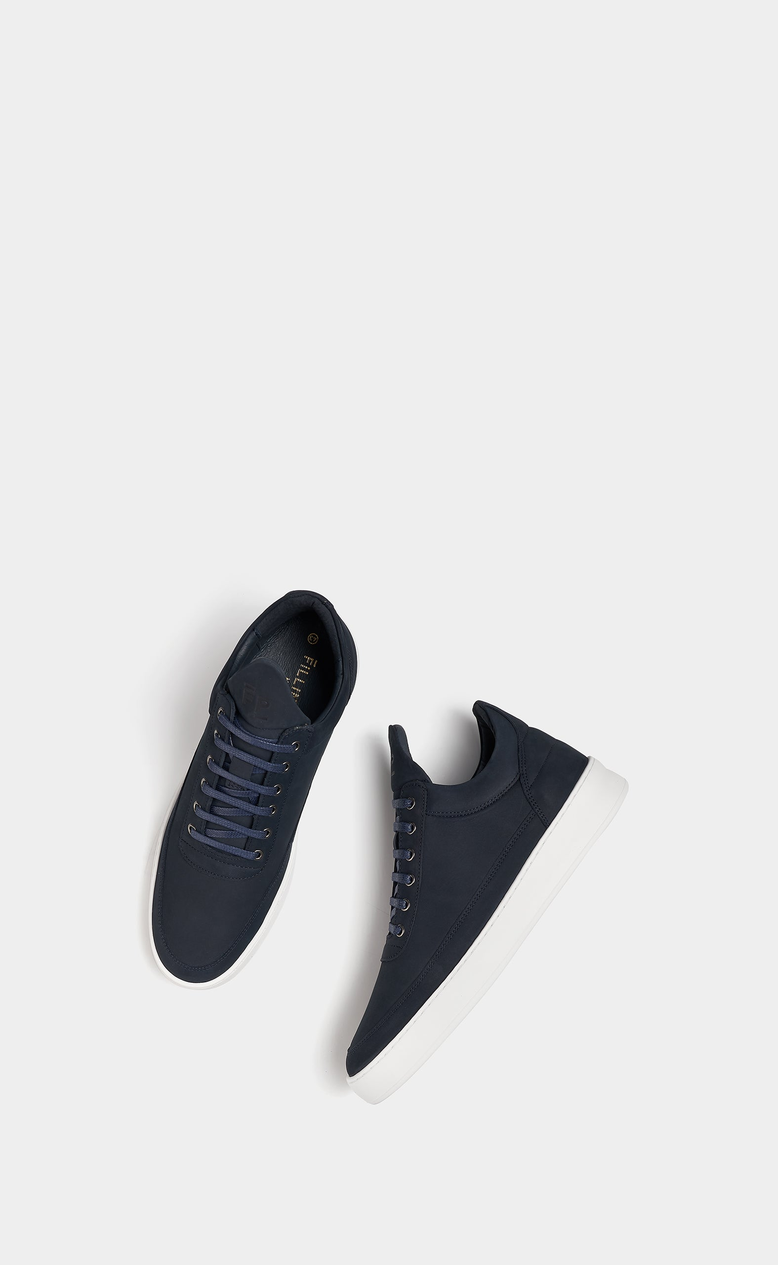 Low Top Plain Lane Nubuck Navy Blue - men