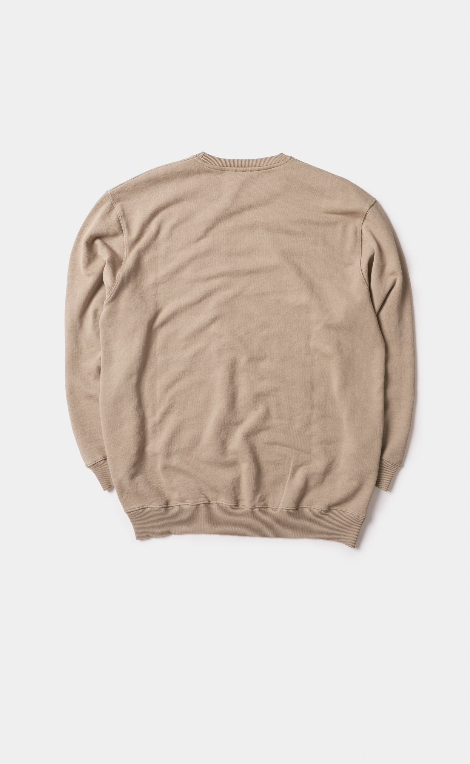 Graphic Sweater Taupe - Circle Patch