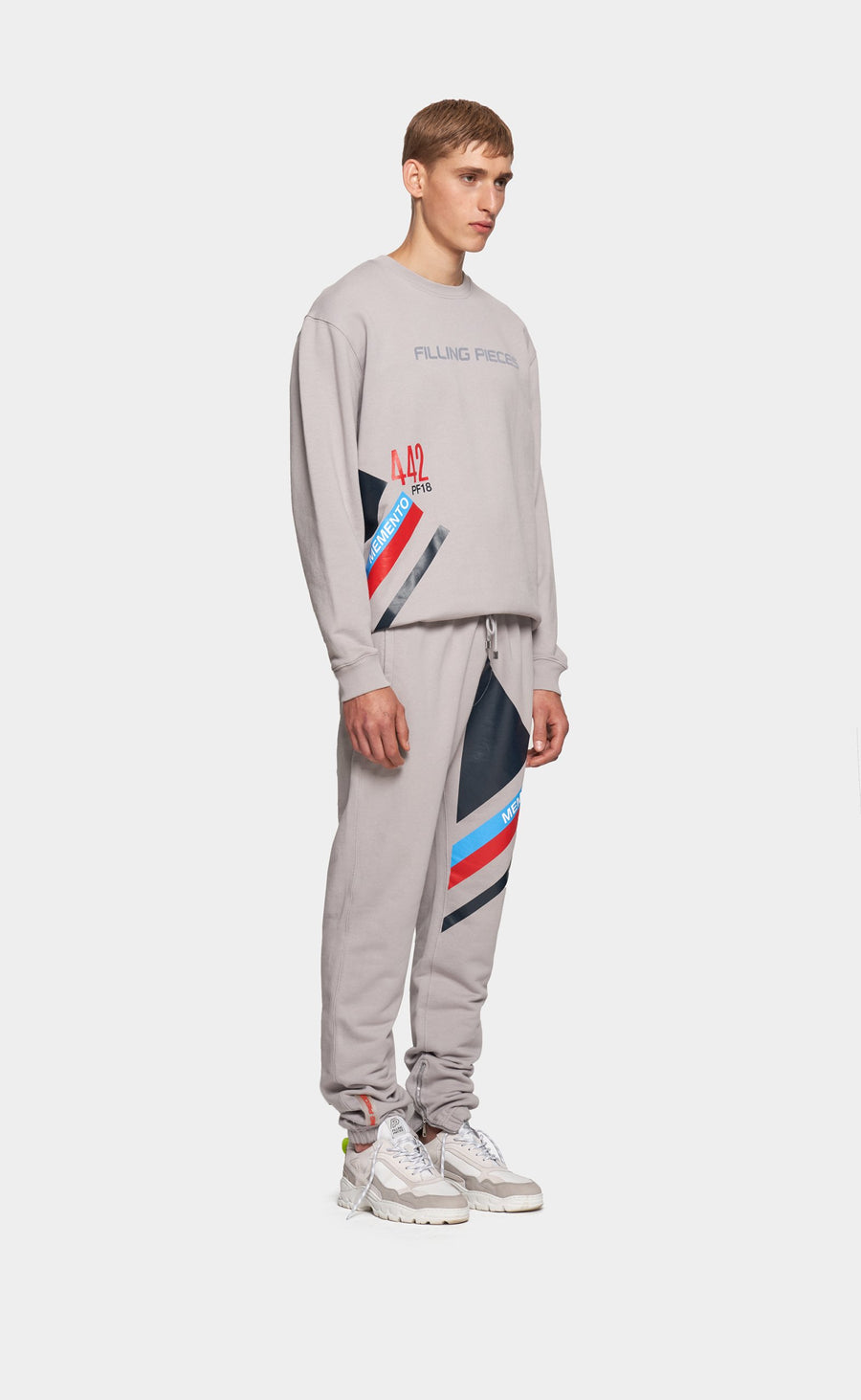 Graphic Sweatpants Grey - Striped
