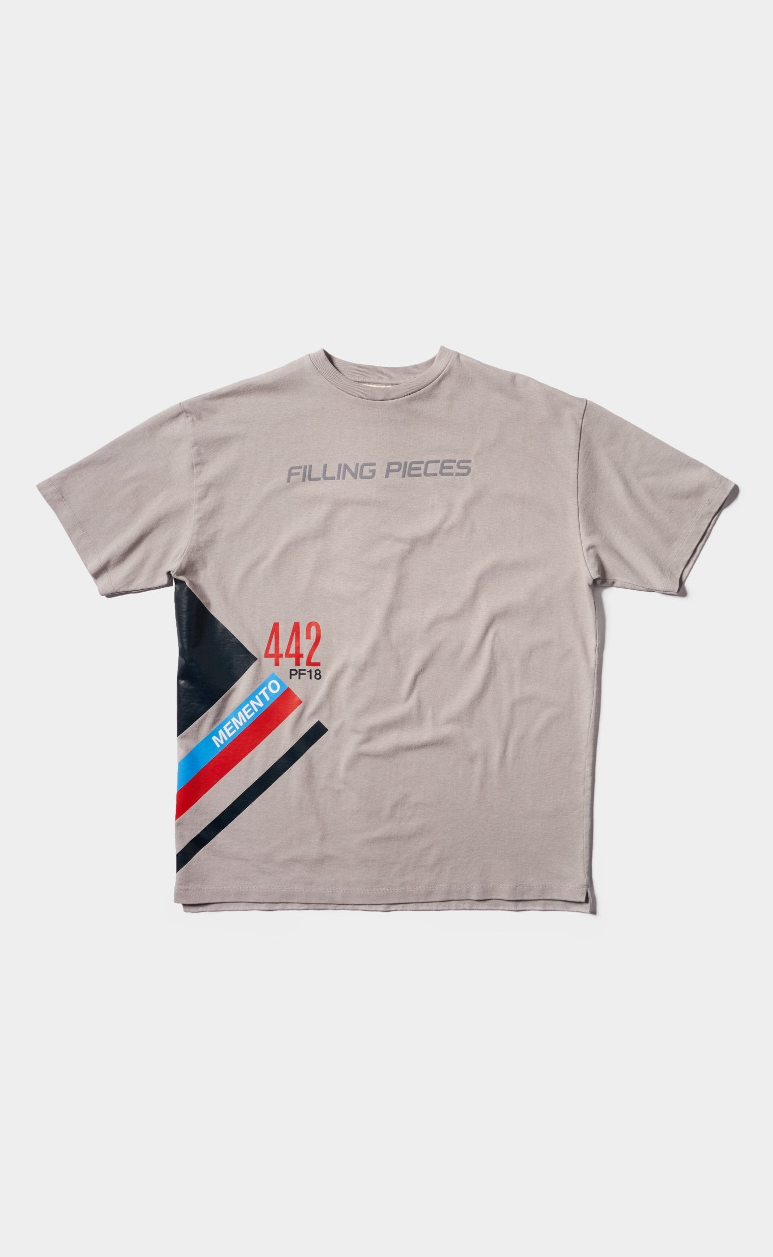 Graphic Tee Grey - Striped