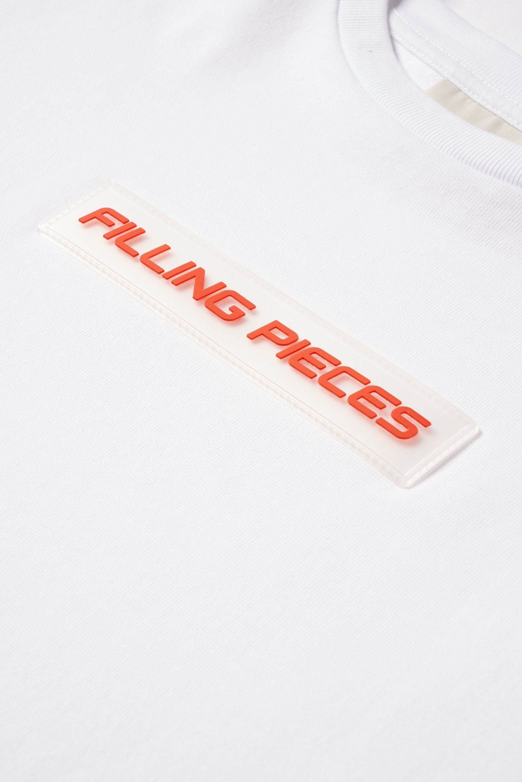Graphic Tee White - Orange Patch