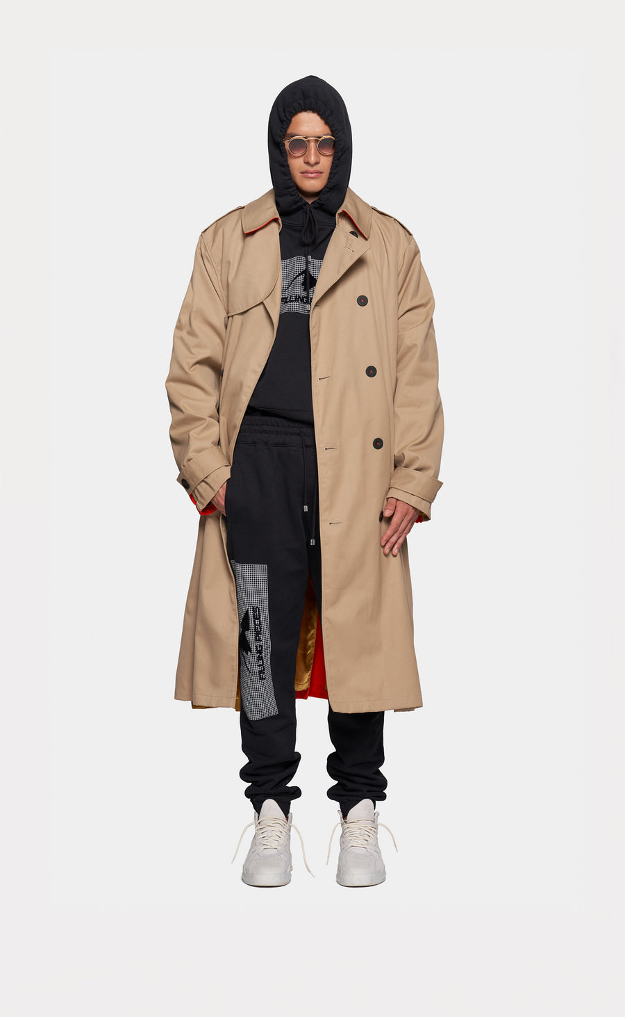 Trench Coat Beige/Orange