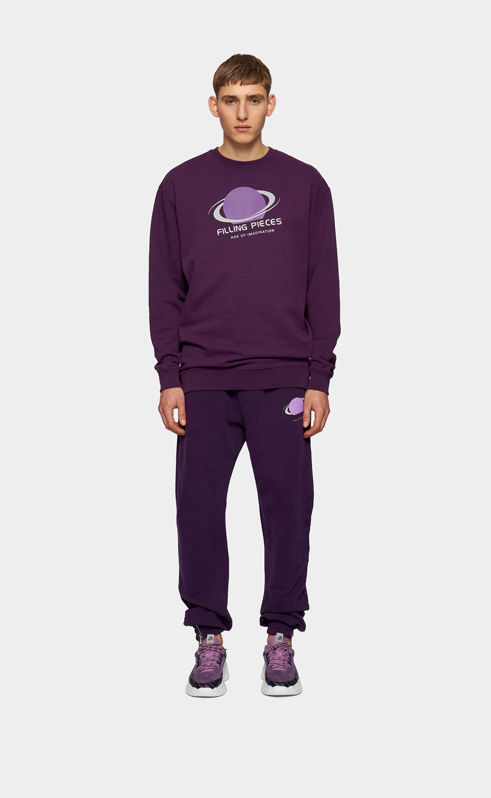 Graphic Sweater Planet Concord Grape