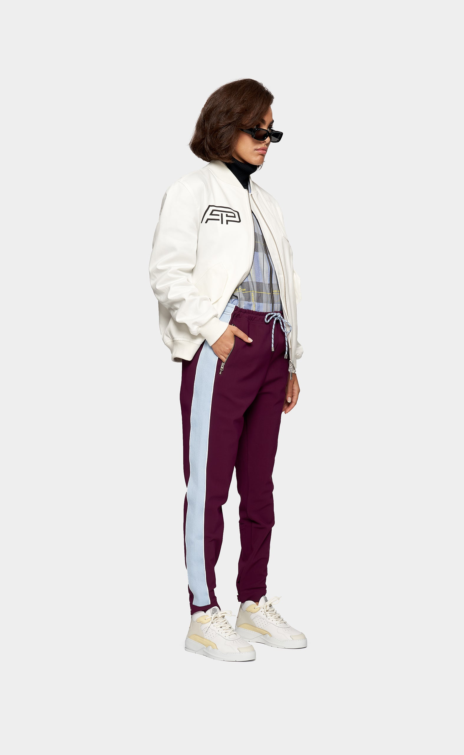 Side Panel Pants Concord Grape
