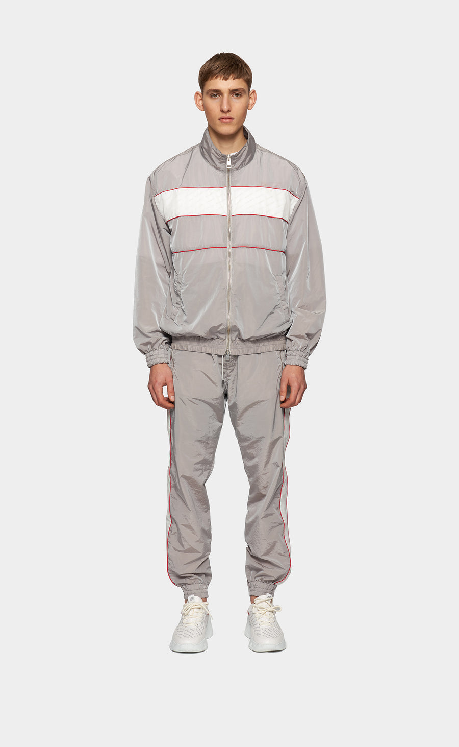 Track Top Repeat Grey