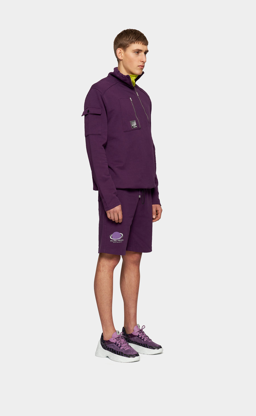 Zip Neck Sweat Concord Grape