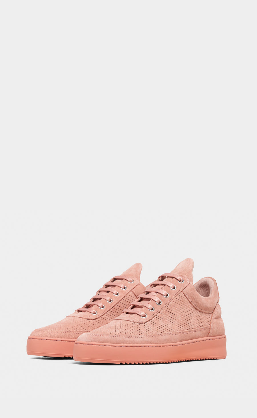 Low Top Ripple Suede Perforated Pink