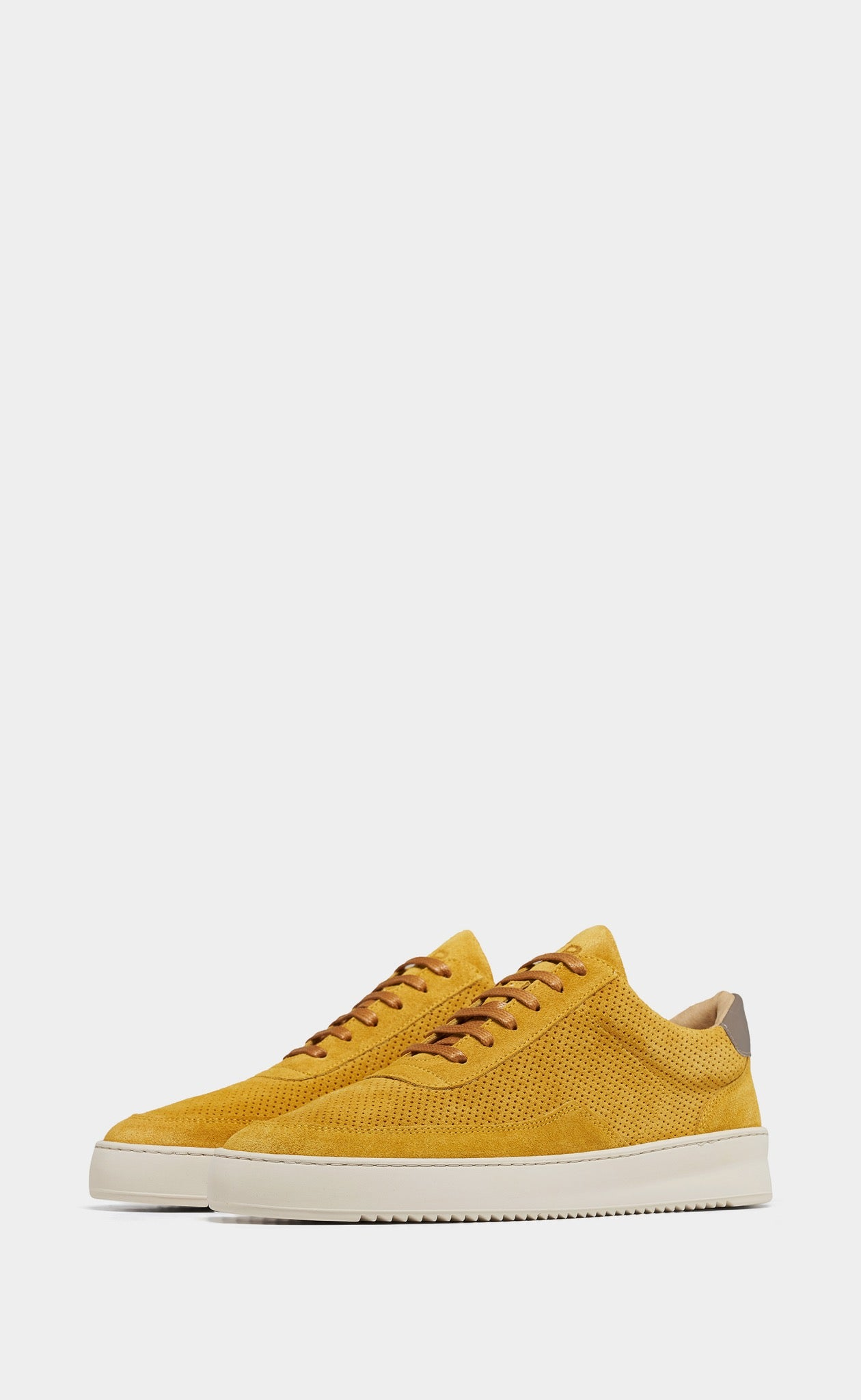 Low Mondo Ripple Suede Perforated Mustard