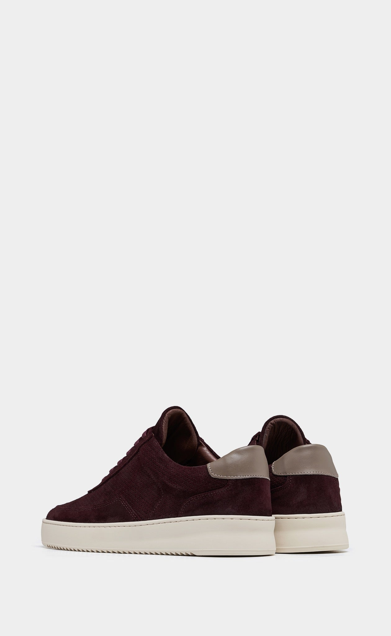 Low Mondo Ripple Suede Perforated Ox Blood