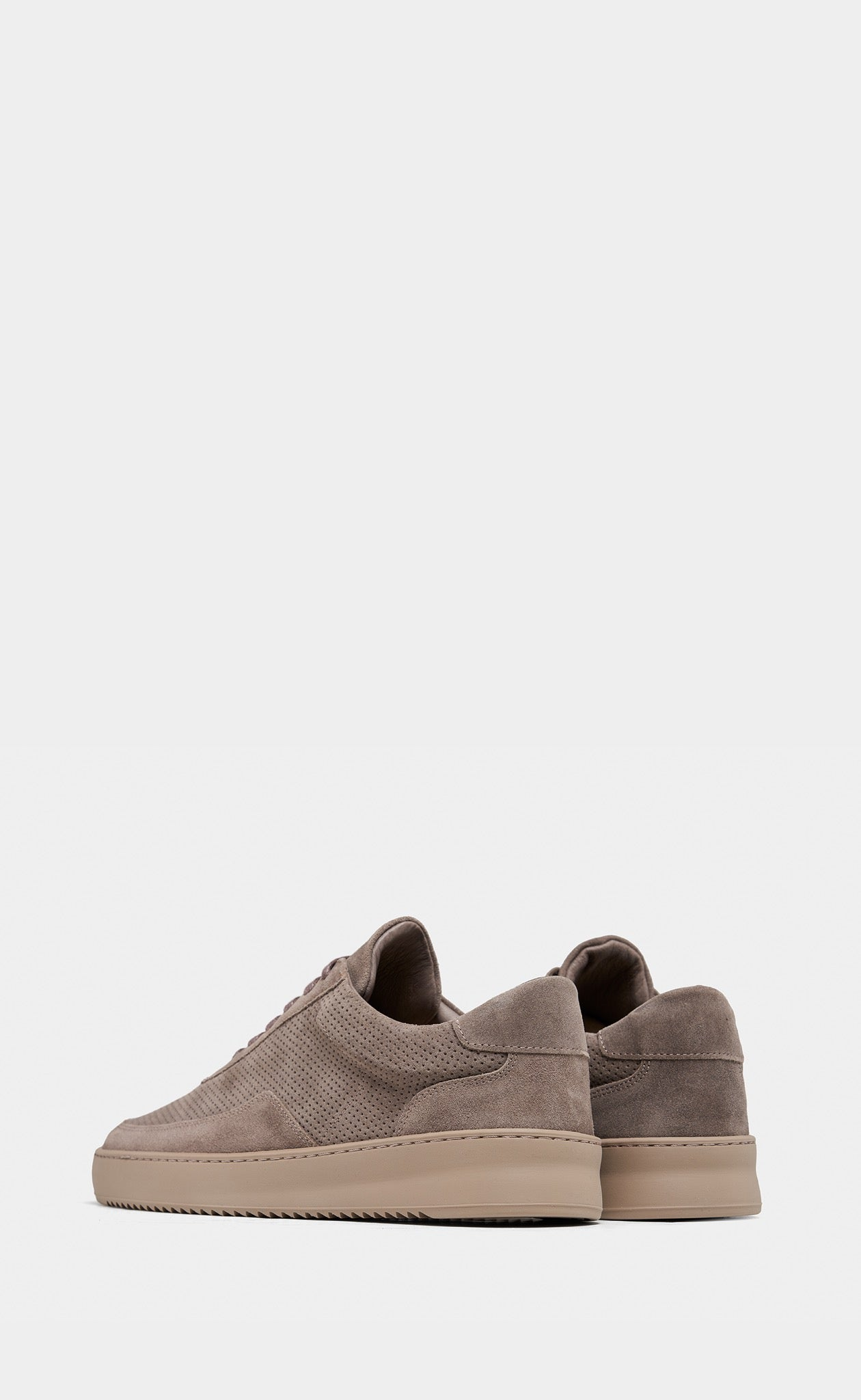 Low Mondo Ripple Suede Perforated Taupe
