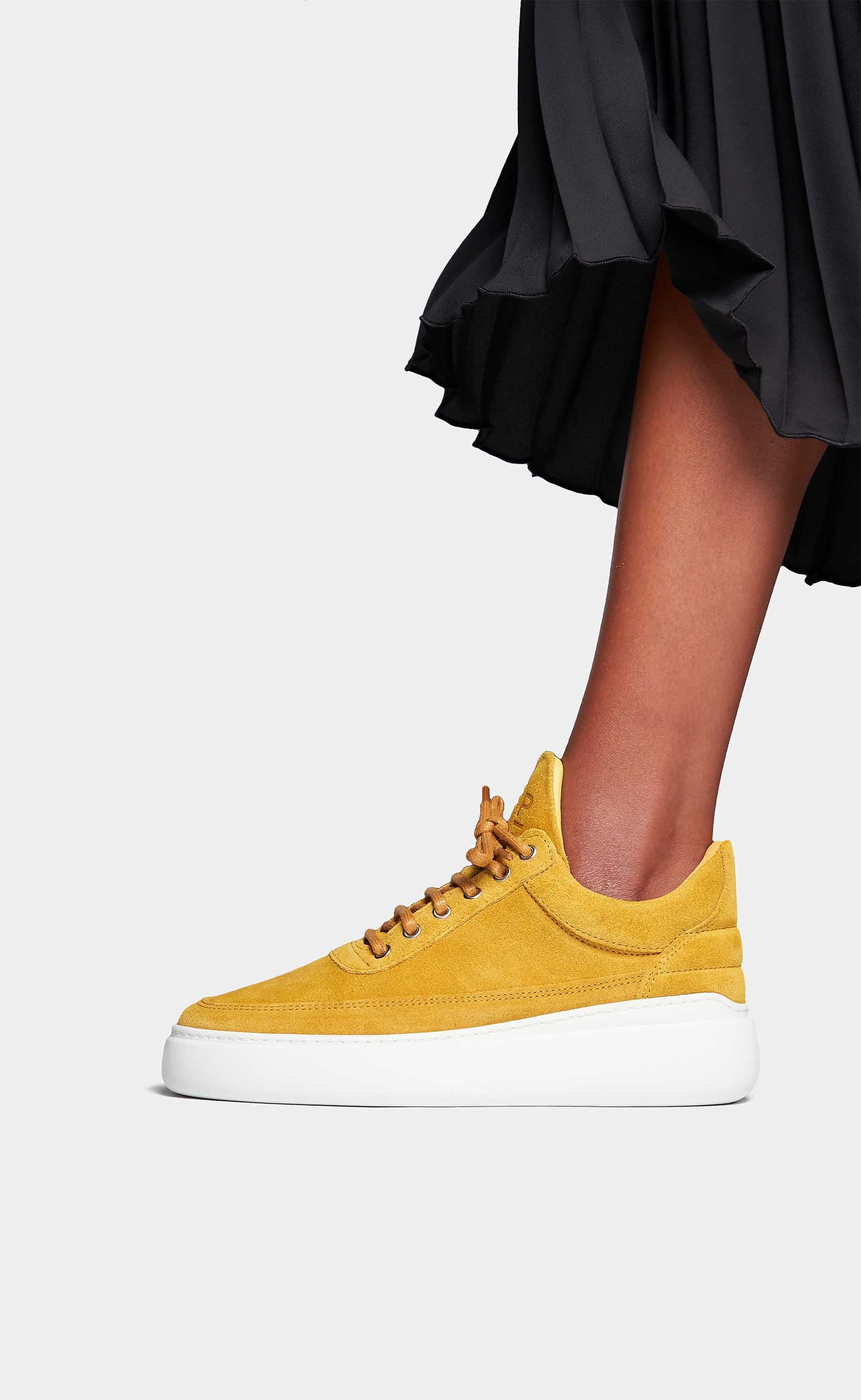 Low Top Angelica Aedan Suede Mustard