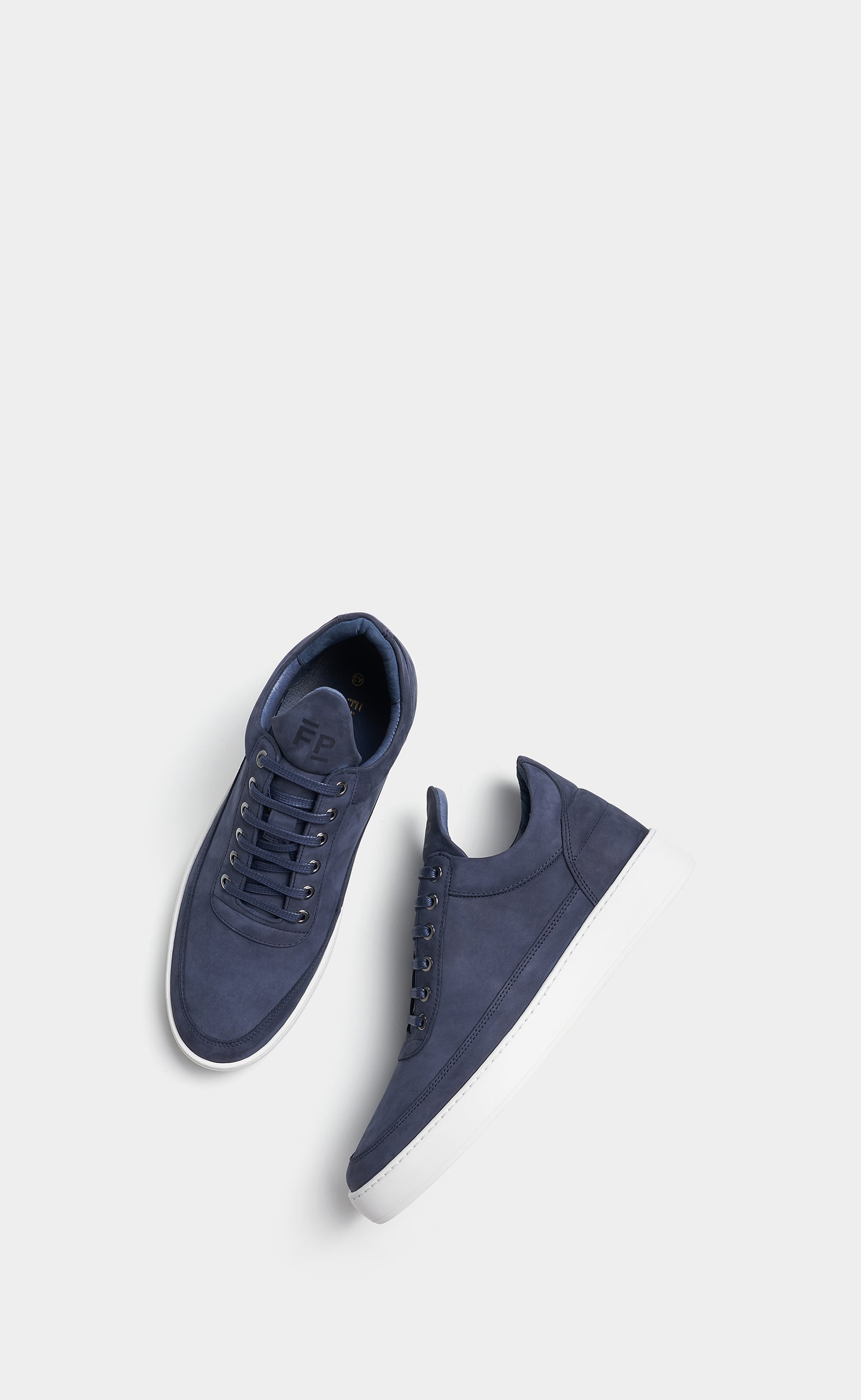 Low Top Plain Lane Nubuck Blue