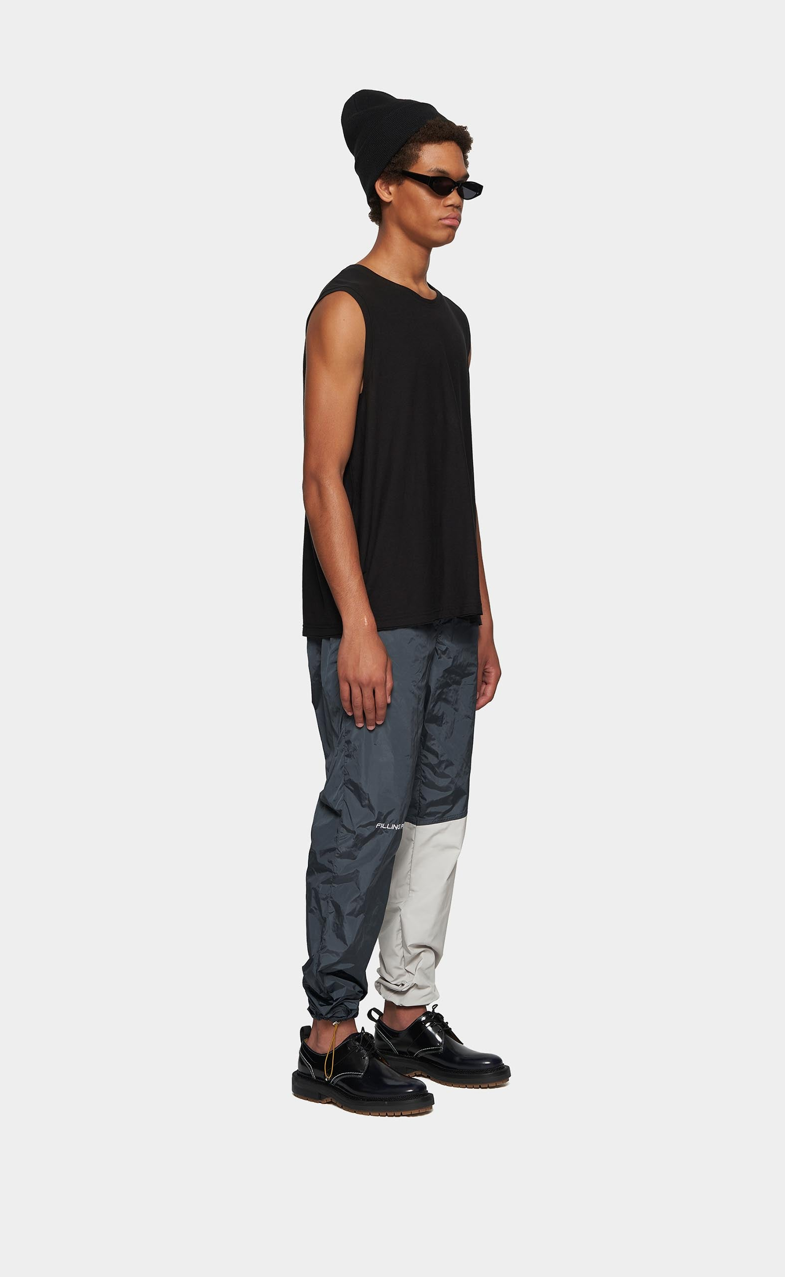 Paneled Pants Cement Grey/Off White