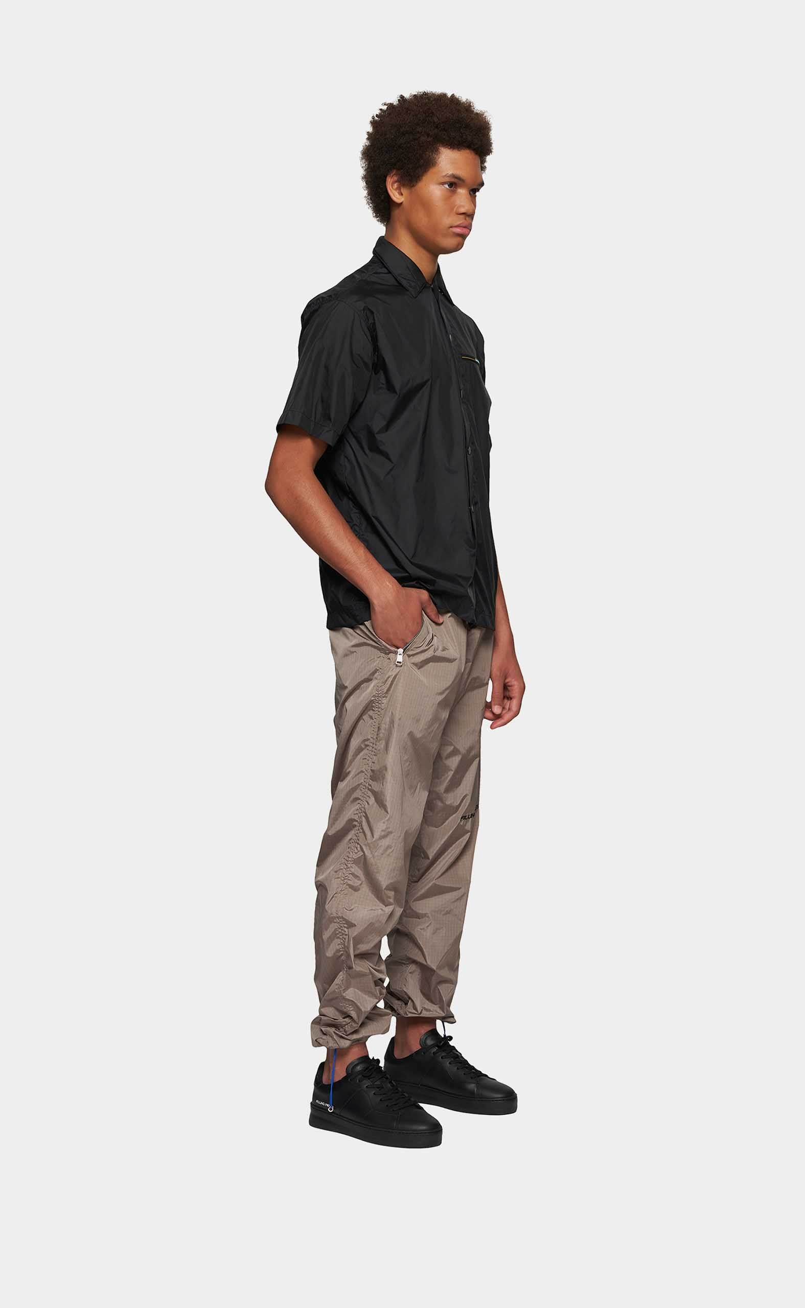 Nylon Cord Pants Pattern Black/Grey