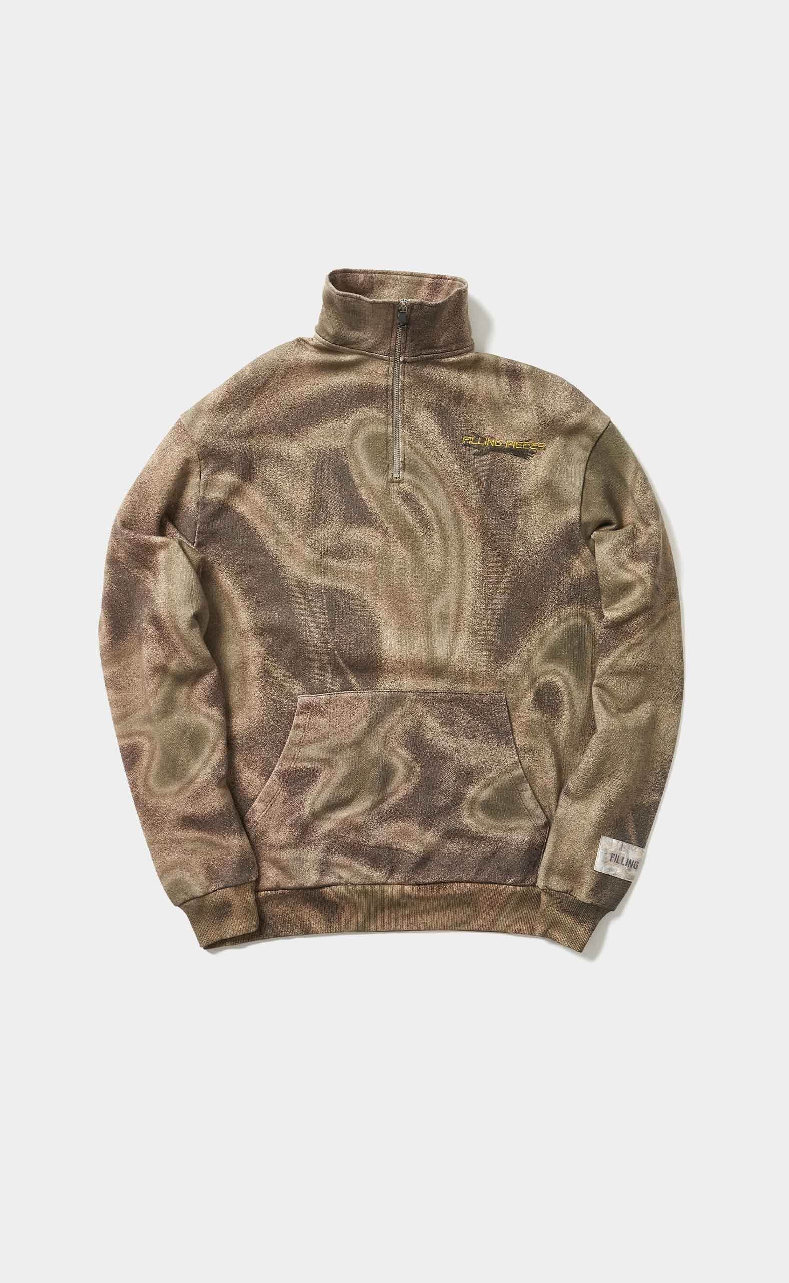 Zip Neck Sweat Respect The Old Camo