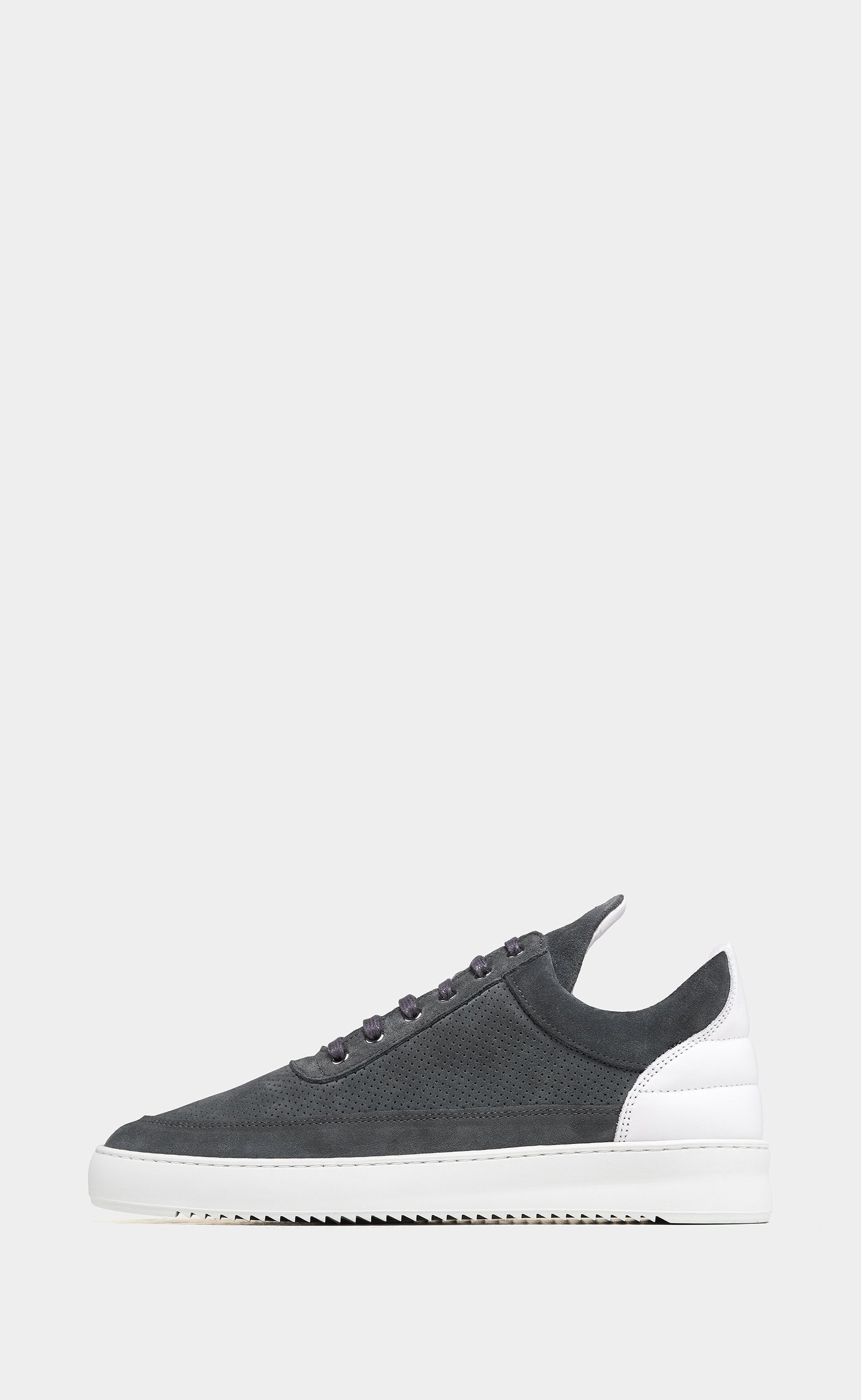 Low Top Ripple Perforated Dark Grey