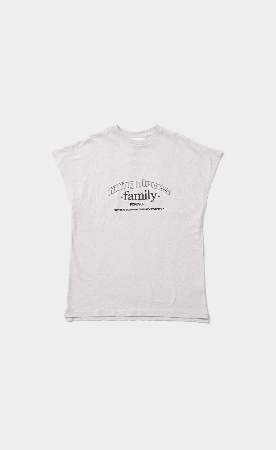 Graphic Sleeveless Tee FP Family Whitecap Grey - women
