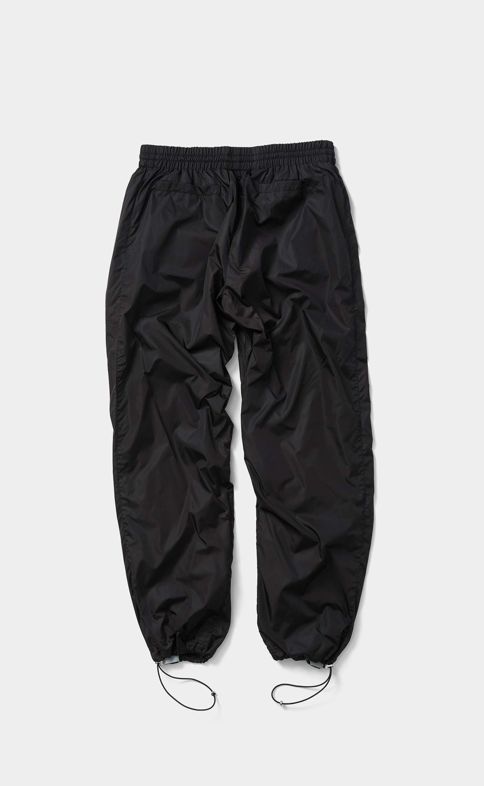 Nylon Cord Pants Wide Fit Classic Black