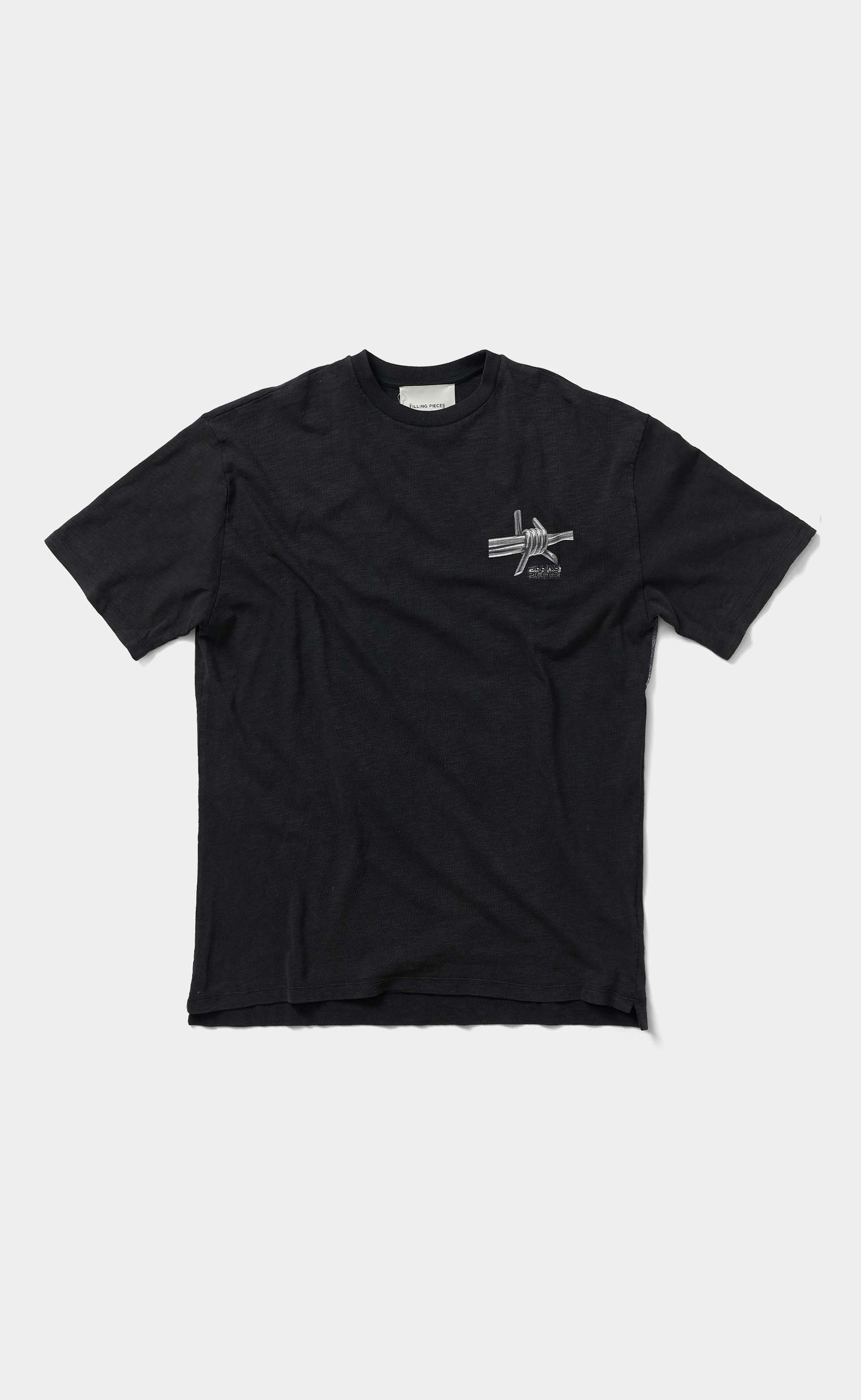 Graphic Tee Barbed Wire Black