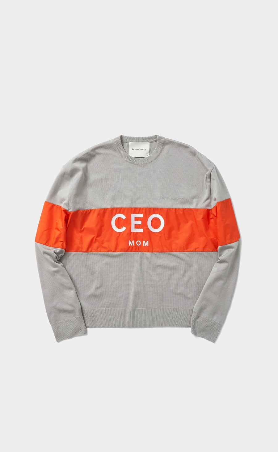 Mixed Knit Sweater Ceo Mom Cool Grey