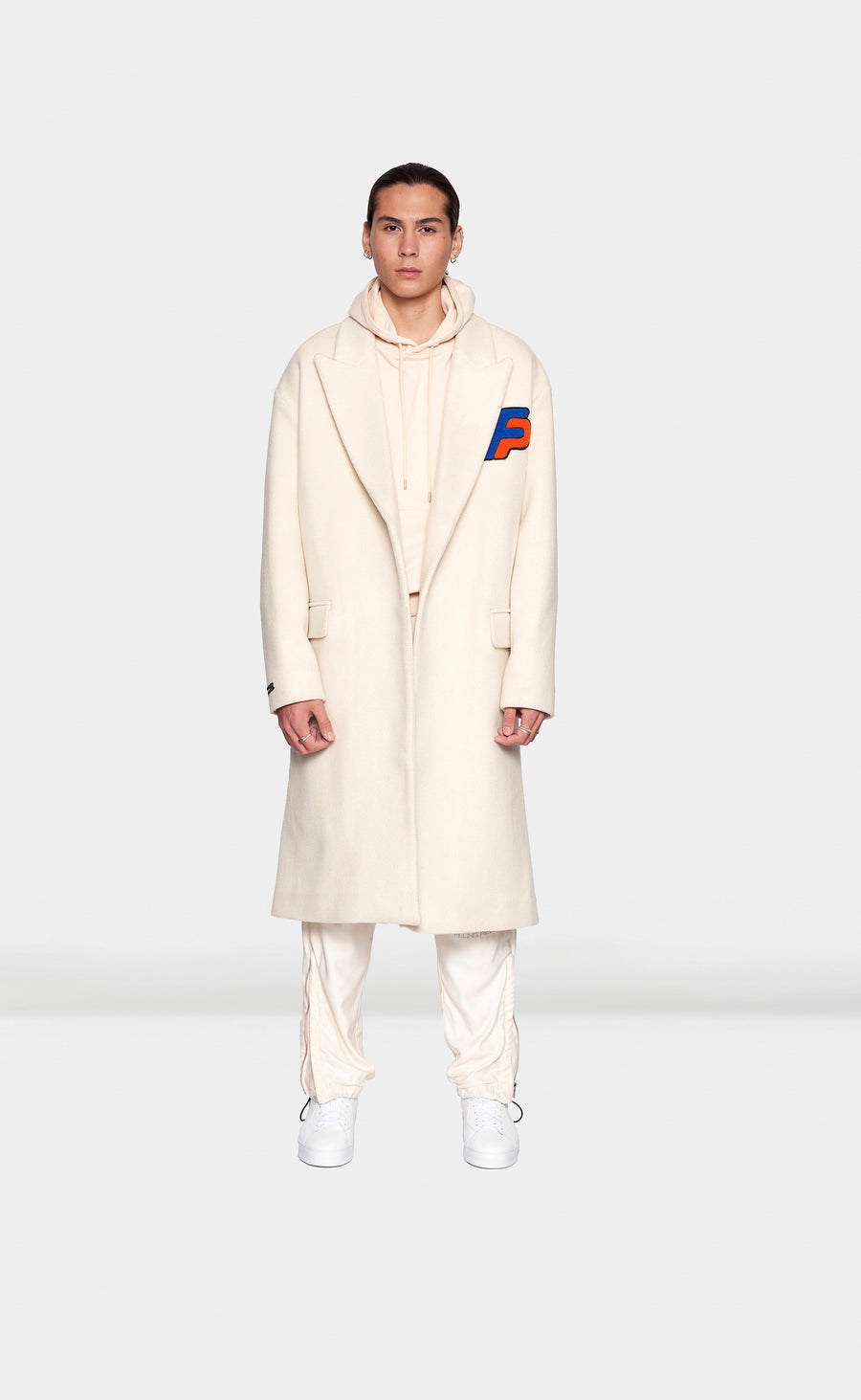 White Wool Coat - men