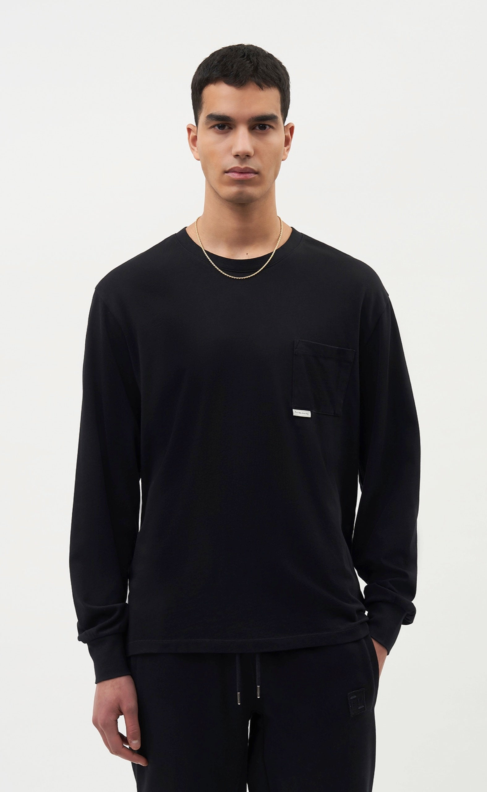 Pocket Longsleeve Black - men
