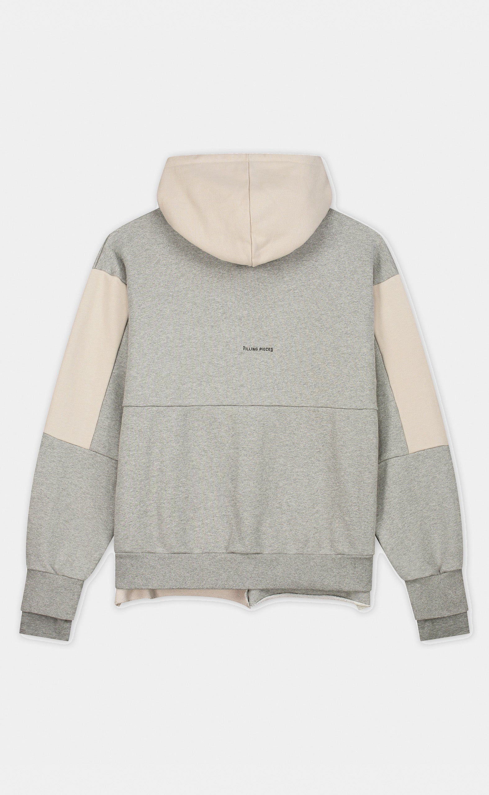 Graphic Hoodie Patchwork Grey - men
