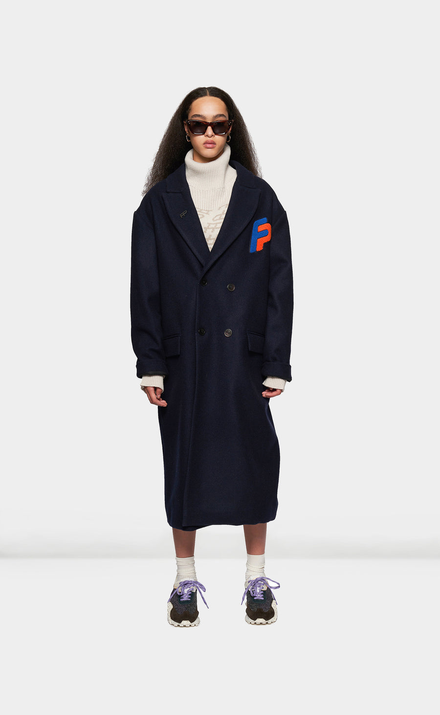 Wool Coat Navy - men