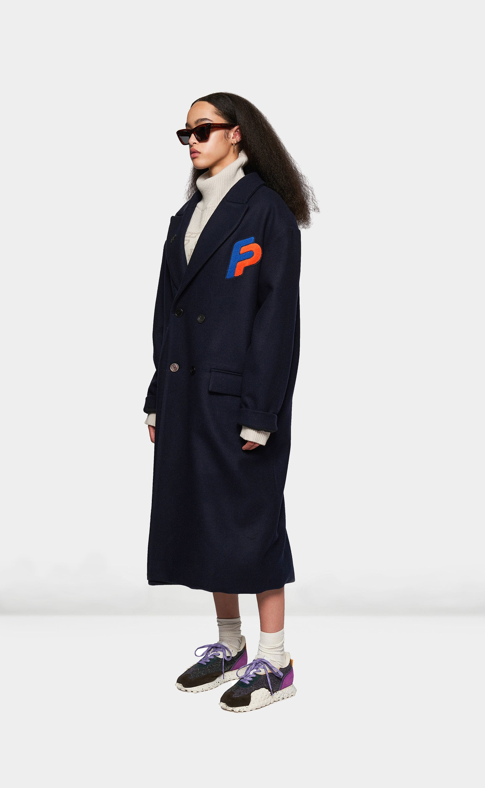 Wool Coat Navy - women