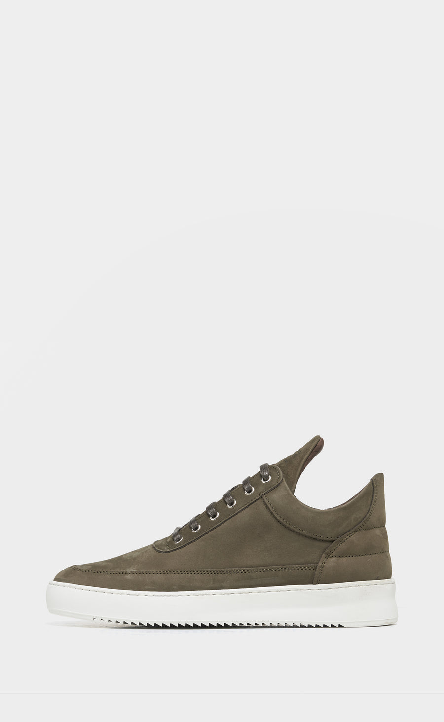 Low Top Ripple Nubuck Dark Green - men