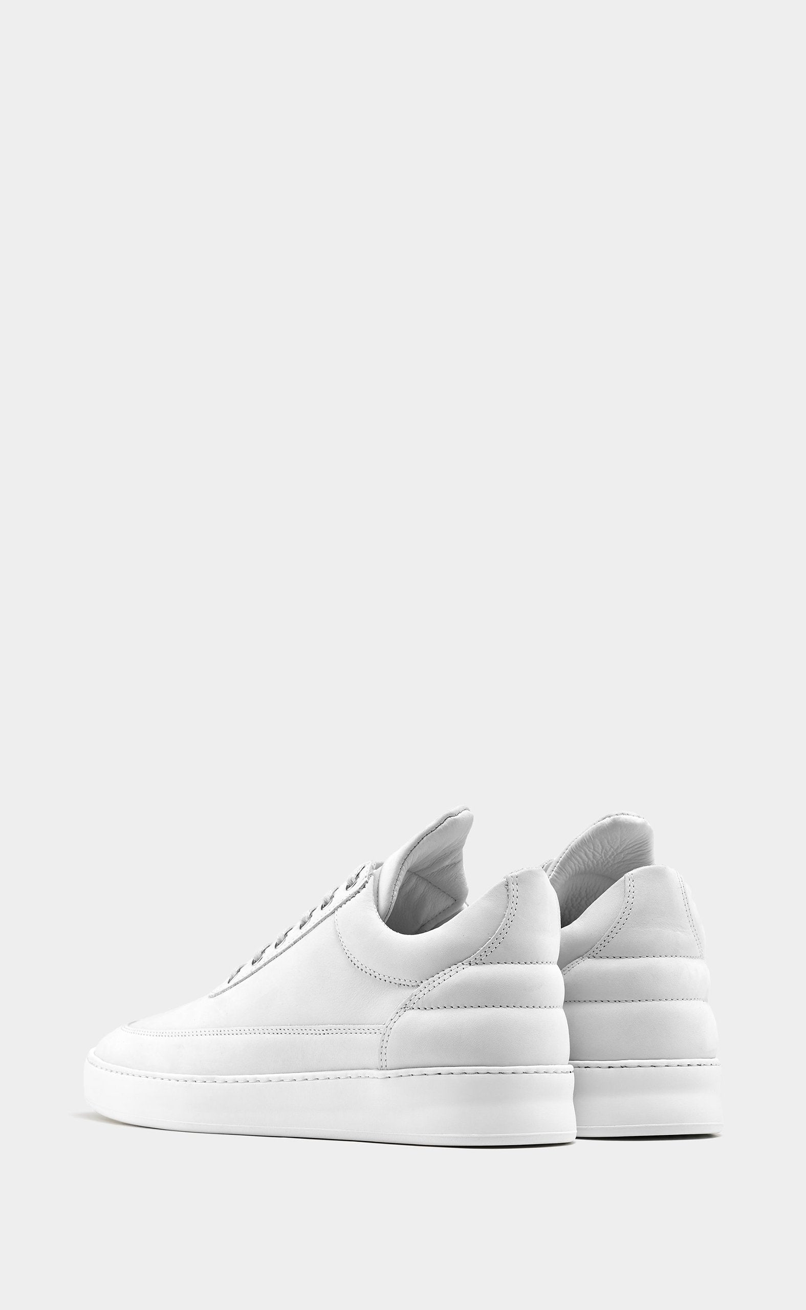 Low Top Plain Matt Nubuck White