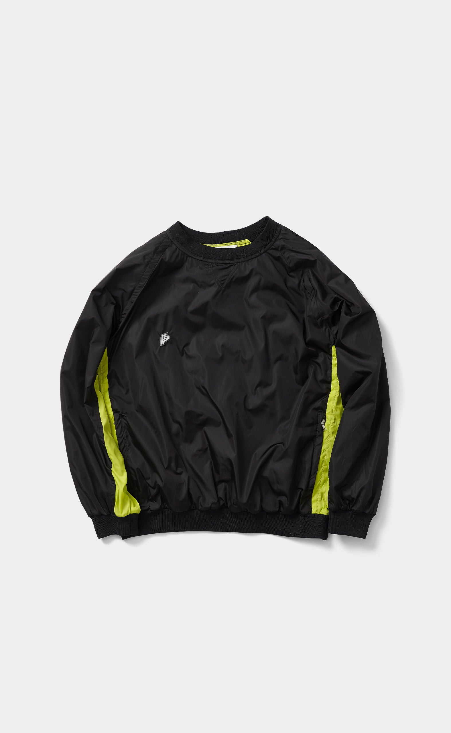 Nylon Sweater Black/Acid Lime - men