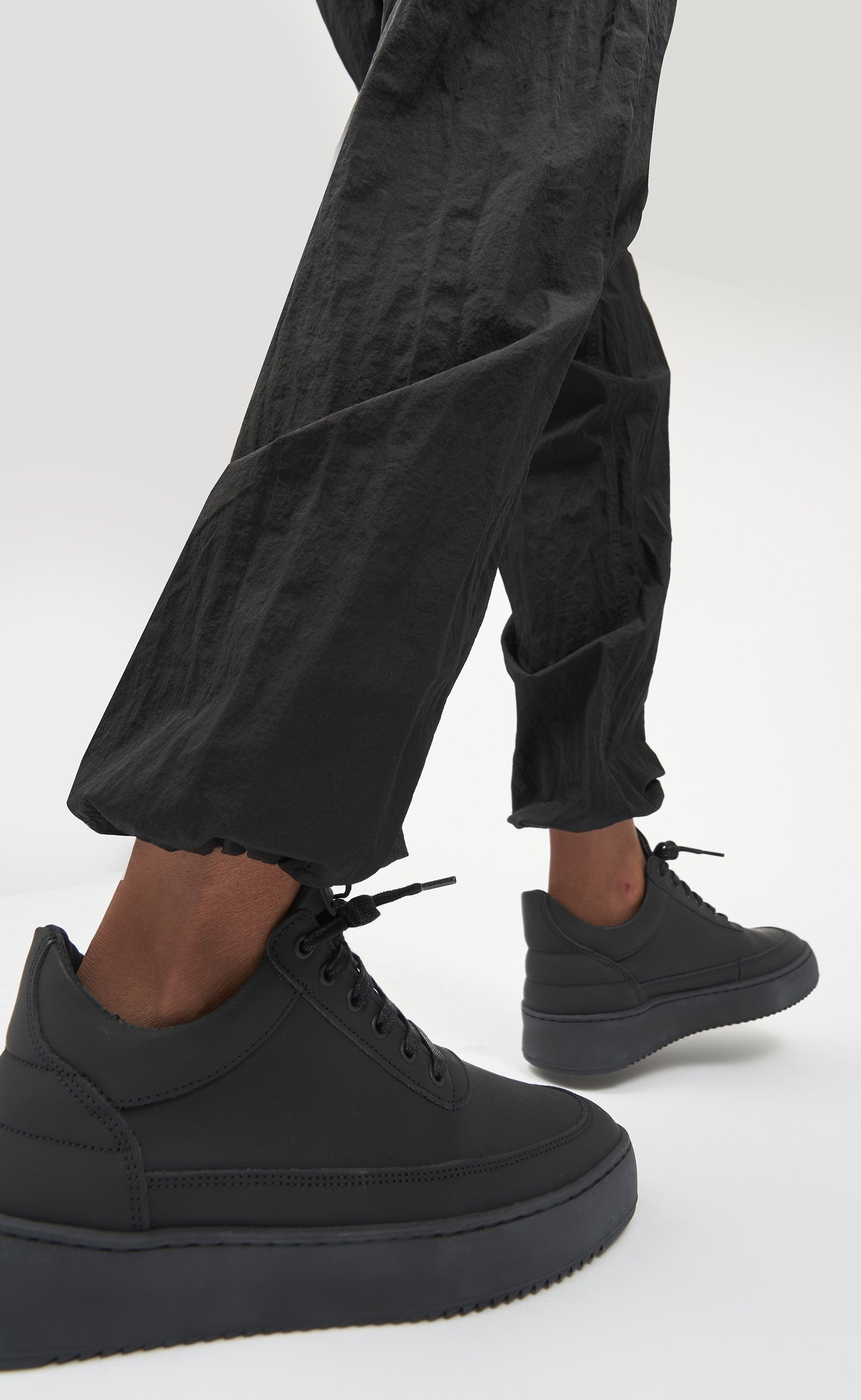 Low Top Ripple Coal All Black - women