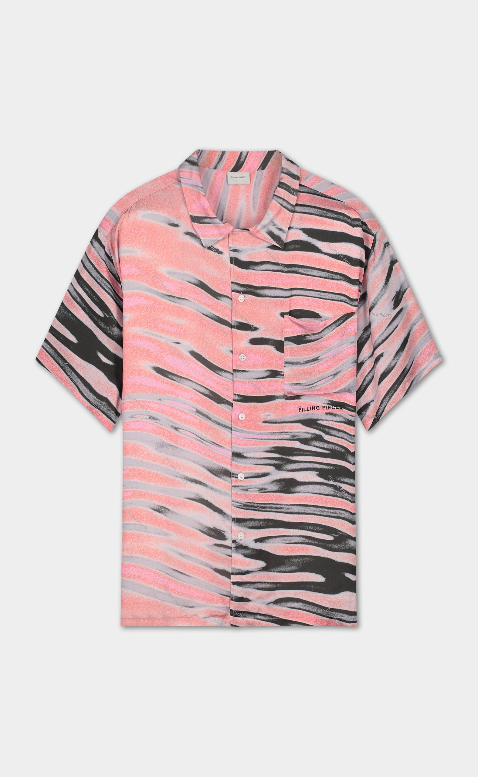 Printed Resort Shirt Pink Wavey