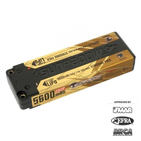 Sunpadow 7.4V 2S 5600mAh 120C/60C LiPo Battery (5656040)