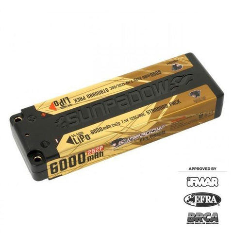 Sunpadow 7.4V 2S 6000mAh 120C/60C LiPo Battery (5660041)