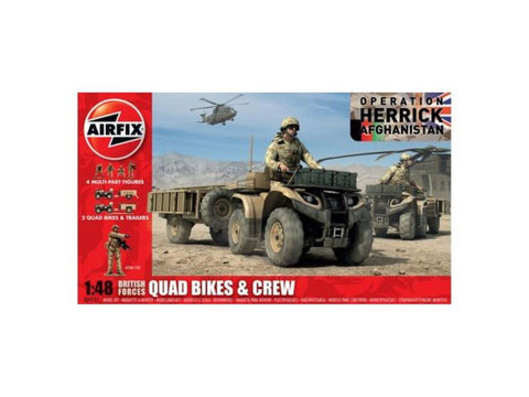 AIRFIX BRITISH QUAD BIKES AND CREW