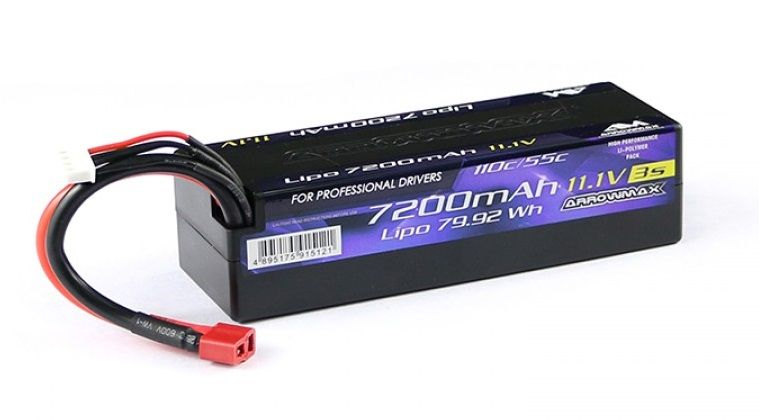 ARROWMAX AM Lipo 7200mAh 3S - 11.1V 55C Continuos 110C Burst(AM-700603)
