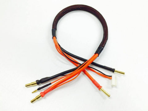2 CELL LIPO CHARGE LEAD With 4/5mm Plugs (50cm)