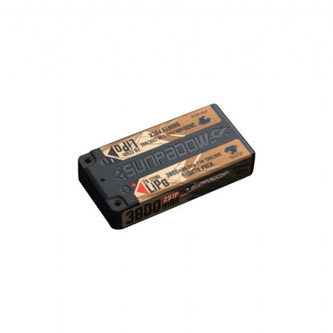 SUNPADOW 3800mAh-2S1P-7.4V-130C/65CLipo Battery(shorty pack)(S638066)